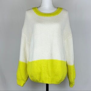 Elodie Color Block Crew Neck Sweater